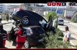 Otomobiller üst üste çıktı; 10 yaralı