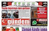 05 EYLÜL 2019 PERŞEMBE GÜNDEM GAZETESİ