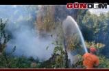 Çalılık yangını evlere sıçramadan söndürüldü!..
