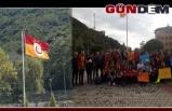Galatasaray flaması yeniden asıldı