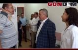 Türkmen'den yaralı gaziye ziyaret