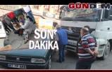 Gazipaşa'da kaza! Trafik kilitlendi!