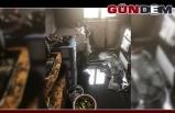 Elektrik kontağından çıkan yangın evi kül etti!..