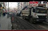 Gazipaşa Caddesi asfaltlanıyor...
