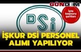 İŞKUR DSİ PERSONEL ALIMI YAPILIYOR