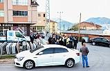 Mahalle'ye alınmayan dolmuşçular eylem yaptı