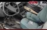 Hurdaya dönen otomobilin sürücüsü ölümden döndü...