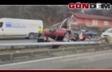 Zonguldak'ta feci kaza: 1 ağır yaralı