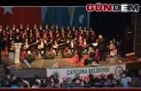 Çaycuma'da Türk Halk Müziği Topluluğu konser verdi