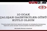 ERDEMİR'DEN GAZETECİLERE KUTLAMA...