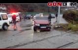 Yük treni otomobile çarptı!...