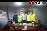 Altyapı hocaların Gençlik Spor İlçe Müdürüne ziyaret