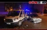 Otomobil ile kamyonet çarpıştı 4 yaralı