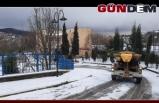 Zonguldak'ta kar tuzlama çalışmaları başladı...