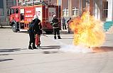 Devrek'teki okullarda yangın tatbikatı...