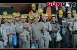 Madenciler şehitler için dua ettiler...