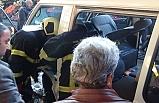 Minibüste çıkan yangını vatandaşlar söndürdü...