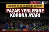 PAZAR YERLERİNE KORONA AYARI