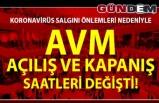 ZONGULDAK'TA AVM SAATLERİ DEĞİŞTİ....