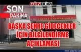 Ereğli'den başka şehre gidecekler için bilgilendirme açıklaması
