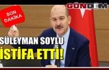 İçişleri Bakanı Süleyman Soylu istifa ettiğini açıkladı.