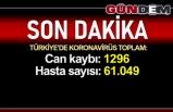 Türkiye'de can kaybı 1296'ya, vaka sayısı 61 bin 49'a yükseldi