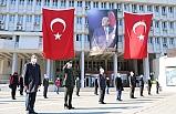 Zonguldak'ta, sosyal mesafeli 23 Nisan töreni