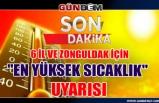 """6 il ve Zonguldak için """"en yüksek sıcaklık"""" uyarısı"""