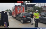 Ambulansın karıştığı zincirleme kazada 1 kişi yaralandı