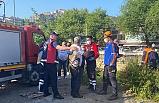 Dereye düşen şahsı AFAD ve itfaiye ekipleri kurtardı