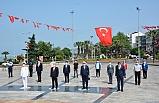 Ereğli'de, 'sosyal mesafe'li 19 Mayıs töreni
