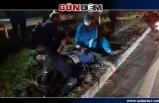 Polisin dur ihtarına uymayıp kaçarken kaza yaptı