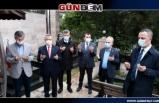 Protokol şehit mezarlığını ziyaret edip dua okudu...