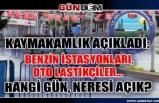 Ereğli'de açık olacak akaryakıt istasyonları ve tamirciler!...