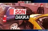 Ticari taksi ile otomobil çarpiştı: 2 Yaralı