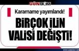 17 il ve Zonguldak'ta  yeni vali ataması yapıldı, 23 ilin valisi yer değiştirdi