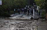 Aşırı yağışla yol çöktü, 7 köyün beldeye ulaşımı uzadı
