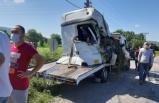 İşçi servisi ile beton mikseri çarpıştı: 1 ölü, 5 yaralı