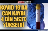 Türkiye'de corona virüs: can kaybı 4 bin 563'e yükseldi!...