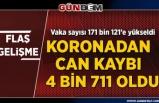 Türkiye'de koronavirüsten can kaybı 4 bin 711'e yükseldi