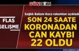 Türkiye'de koronavirüsten vaka sayısı 4 bin 927'ye yükseldi,