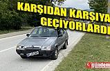 DEDE VE TORUNUNA OTOMOBİL ÇARPTI