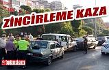 MİLLİ EGEMENLİK CADDESİ'NDE ZİNCİRLEME KAZA