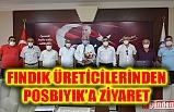 FINDIK ÜRETİCİLERİNDEN BAŞKAN POSBIYIK'A ZİYARET