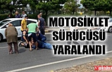 GÜLÜÇ'TE TRAFİK KAZASI MOTOSİKLET SÜRÜCÜSÜ YARALANDI