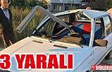 KONTROLDEN ÇIKAN OTOMOBİL BARİYERLERE SAPLANDI: 3 YARALI