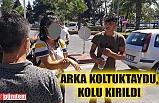 MOTOSİKLET KAZASINDA KOLU KIRILDI