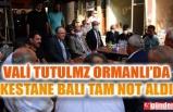 VALİ TUTULMAZ, ORMANLI'DA İNCELEMELERDE BULUNDU