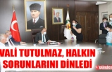 ZONGULDAK VALİSİ TUTULMAZ, HALK GÜNÜ TOPLANTISI DÜZENLEDİ