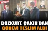 BOZKURT, PARTİ BİNASINDA ÇAKIR'DAN GÖREVİ TESLİM ALDI